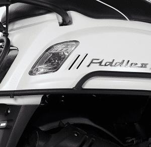 Valbeugelset motorscherm Sym Fiddle II mat zwart