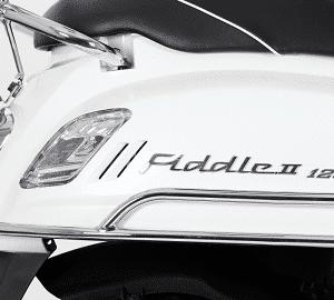 Valbeugelset motorscherm Sym Fiddle II chroom
