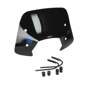 windscherm + bev. set laag (Made in EU) sprint zwart glans