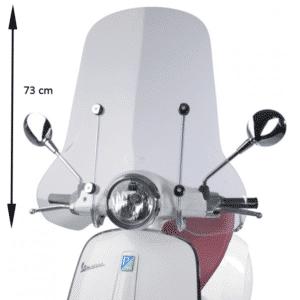 Windscherm Vespa Primavera hoog blanco (orig 1b001042) incl. bevestigingsset