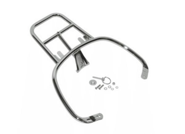 Achterdrager topkoffer Vespa Primavera / Sprint chroom origineel 1b000815